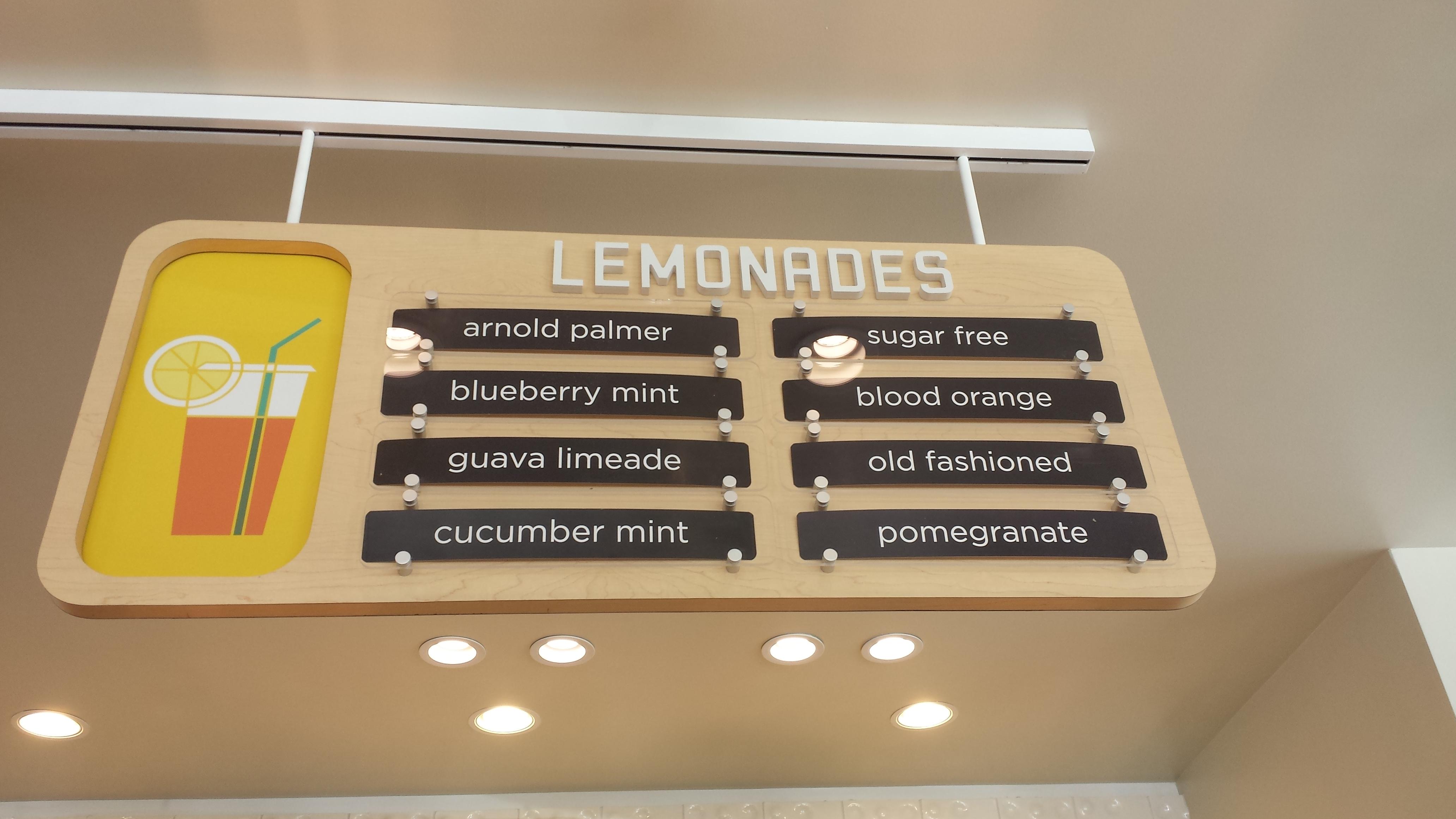 Lemonade LA - lemonade sign
