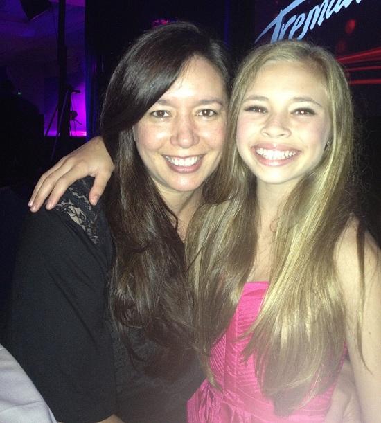 Lara Bojarsky with daughter Mya