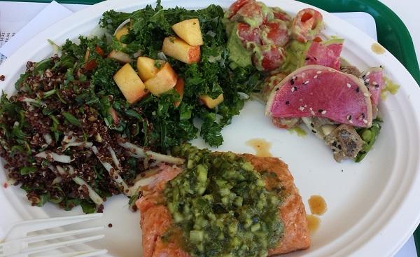 Lemonade Toluca Lake - lunch plate