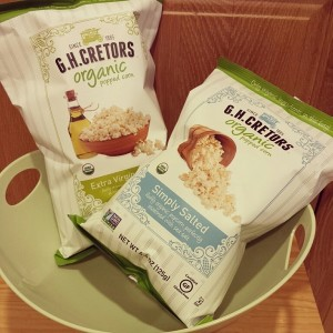 Healthy Oscar Viewing Snacking with G.H. Cretors Organic Popcorn
