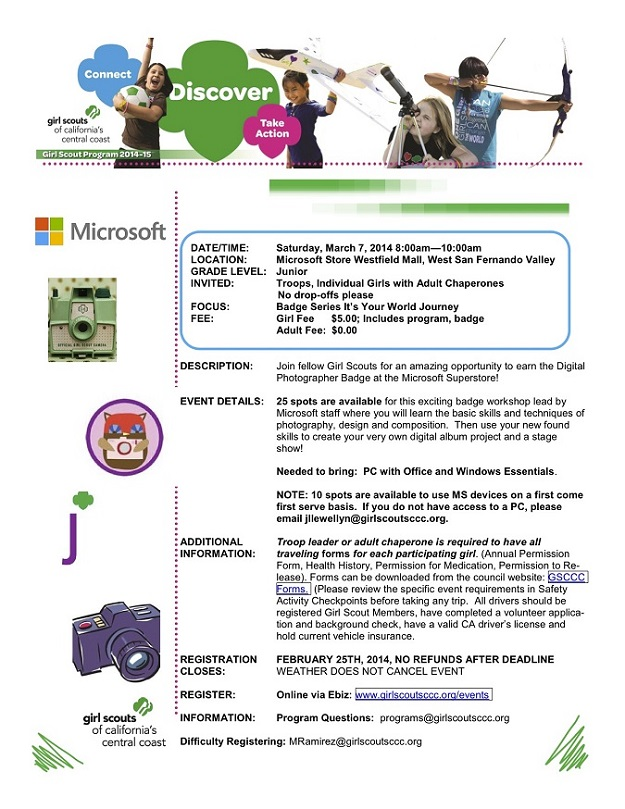 girl scouts workshop at sfv microsoft store real mom of sfv