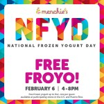 Celebrate National Frozen Yogurt Day with Menchie's on February 6th!