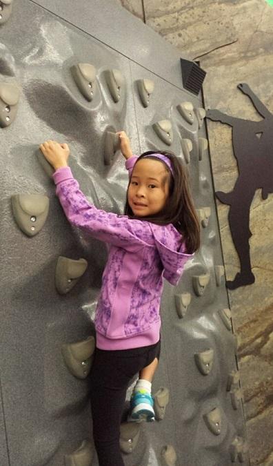 Climbing a rock wall #LikeAGirl!!