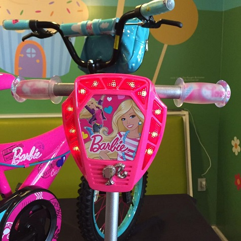 (Close-up of Barbie Scooter)