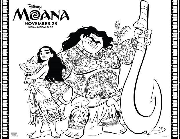 Moana - Coloring Page Pic