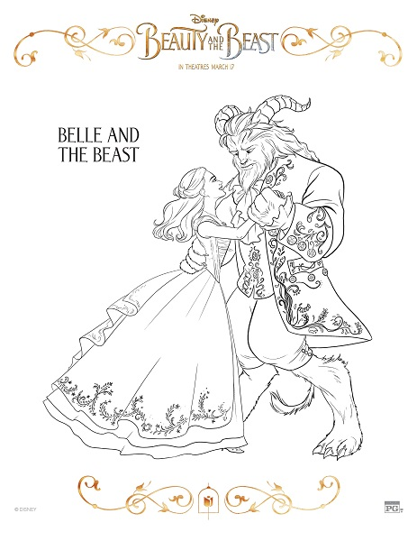 Beauty Beast Free Coloring Pages on oscar award coloring page
