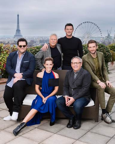 Beauty and the Beast Cast Photo in Paris
