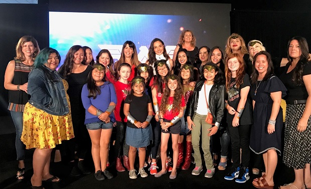Wonder Woman Mothers and Daughters Group Photo