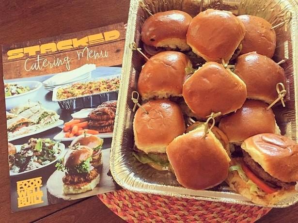 STACKED Catering Menu Cheeseburger Bytes