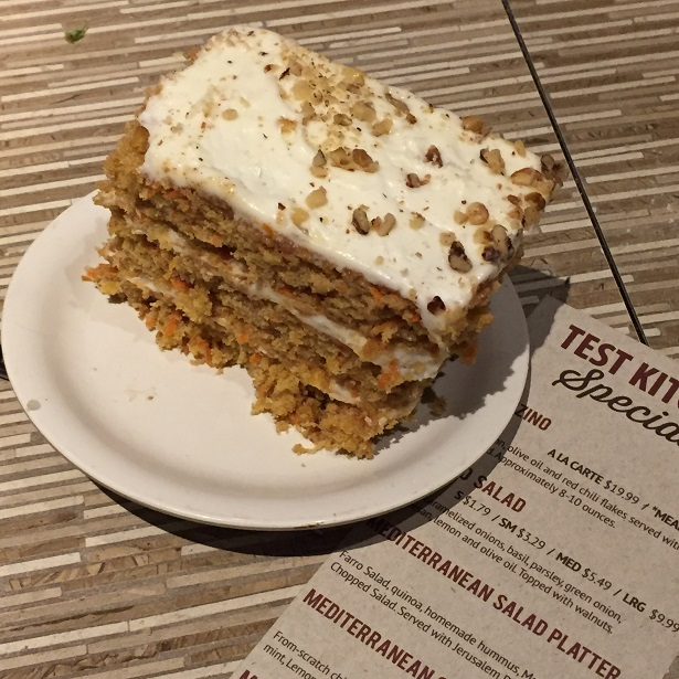 Stonefire Test Kitchen Specials Carrot Cake