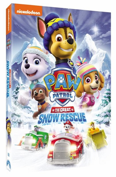 PAW Patrol Great Snow Rescue DVD Side Angle
