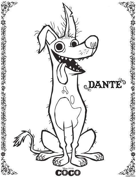Coco Dante Coloring Page