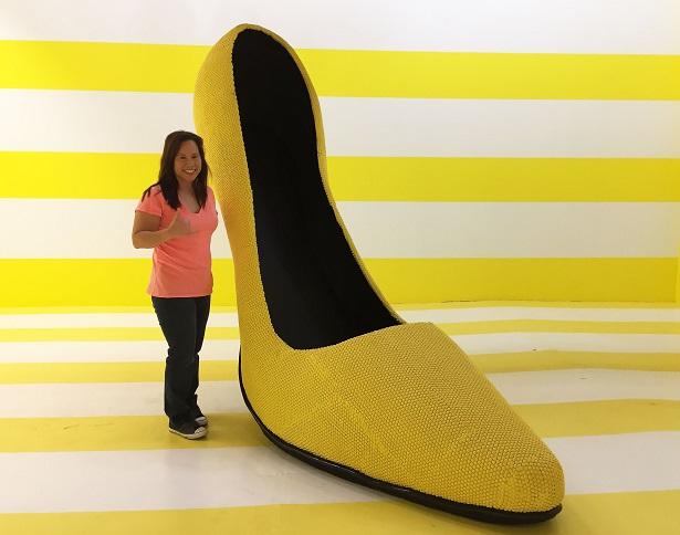 Happy Place DTLA Giant Yellow Shoe