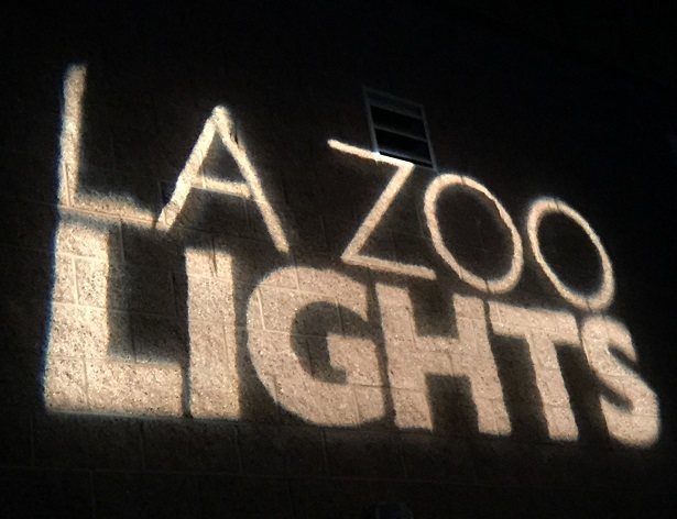 L.A. Zoo Lights Sign Projection