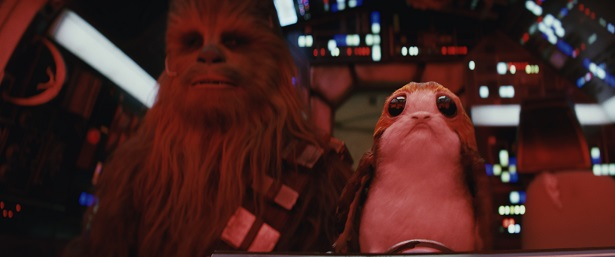 Last Jedi Chewbacca and Porg