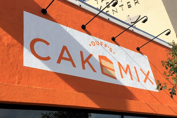 Duff's Cakemix signage