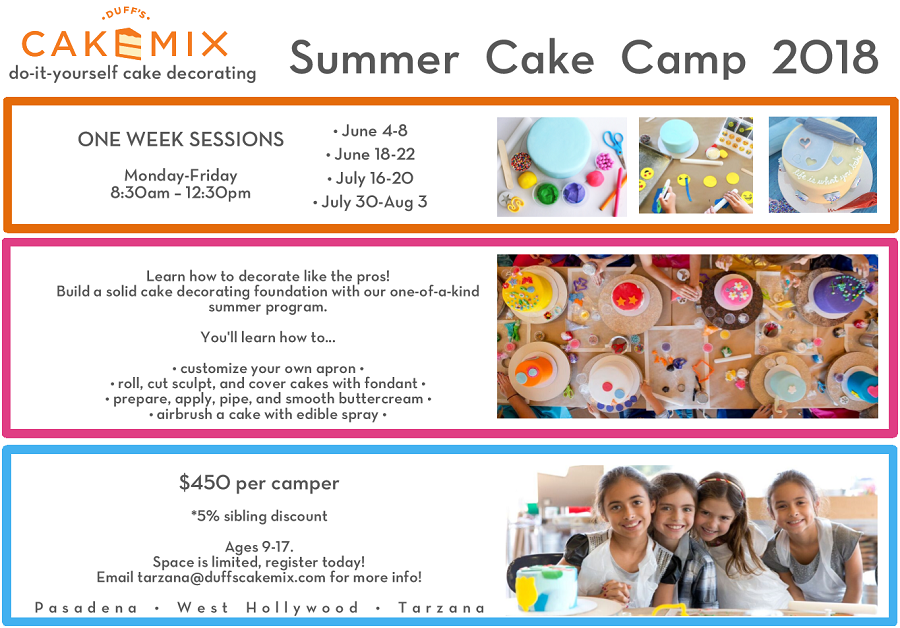 Summer Cake Camp Flyer