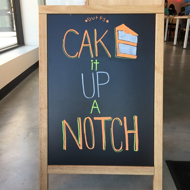 Summer Cake Camp chalkboard