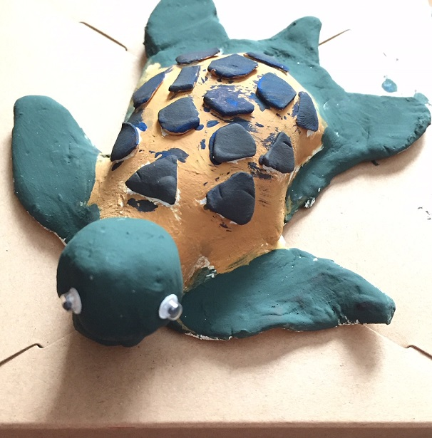 Turtle Tale turtle ceramic painting
