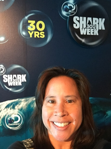 Shark Week - Paley Center selfie