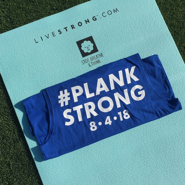 LIVESTRONG - PlankStrong yoga mat and t-shirt