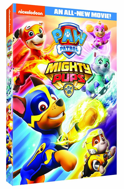 PAW Patrol Mighty Pups DVD side view