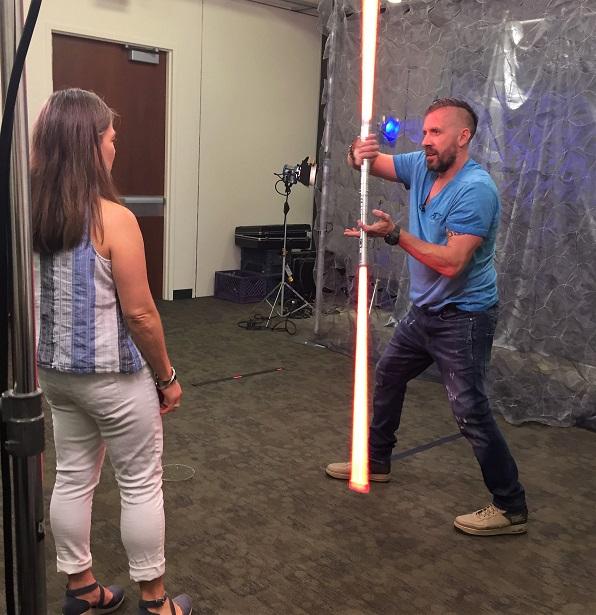 Solo Event Lightsaber Training