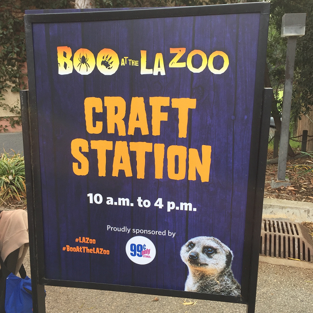 Boo at the LA Zoo craft station