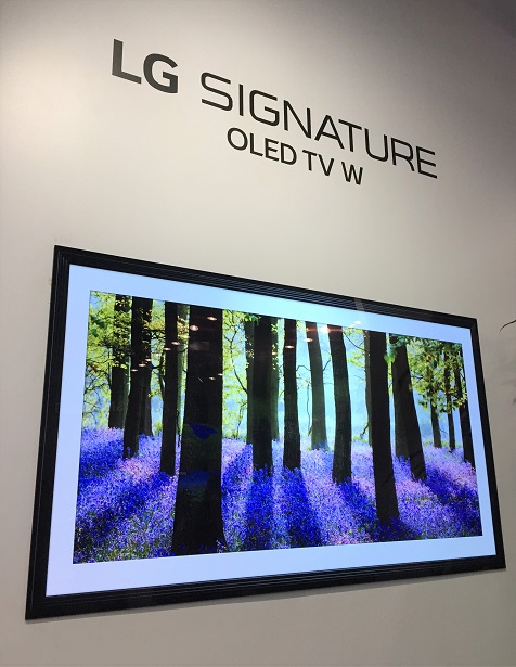 CTA Home Theater LG Signature OLED TV