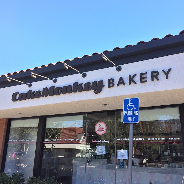 Cake Monkey Bakery signage