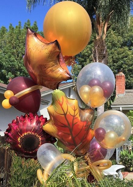 De Lux Balloons Happy Fall Balloon Bouquet