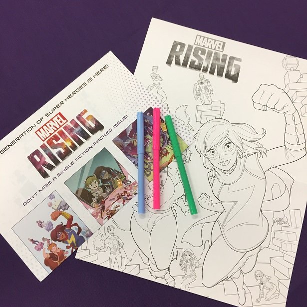 Disney Channel Fall TV Marvel Rising coloring sheets