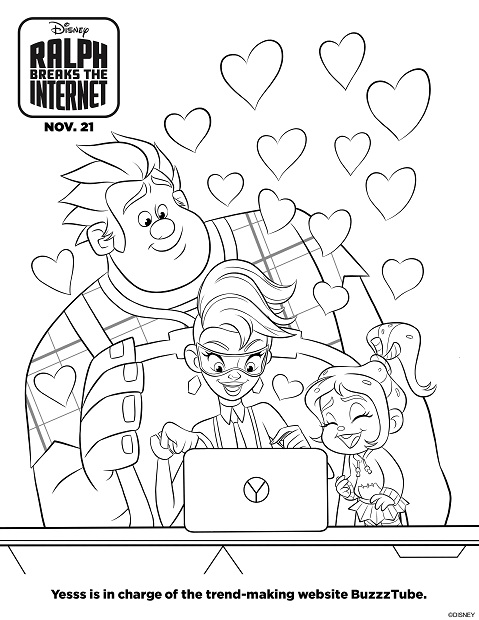 Ralph Breaks The Internet Coloring Page