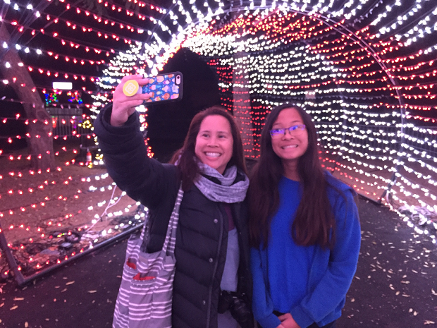 LA Zoo Lights 2018 Selfie