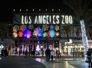 LA Zoo Lights 2018 sign