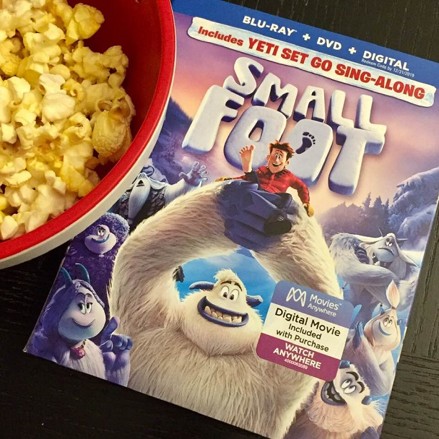Smallfoot DVD Blu-ray and Popcorn