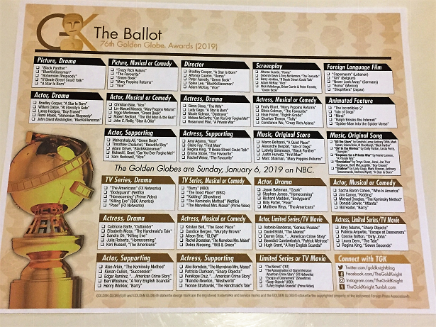 Comprehensive image within golden globe ballots printable