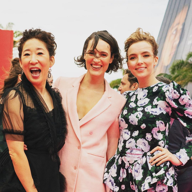Golden Globes 2019 Sandra Oh Killing Eve Cast