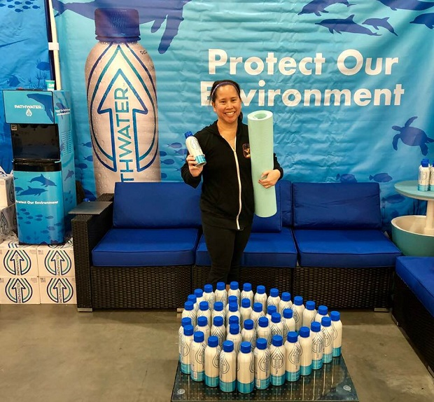 The Yoga Expo LA PathWater booth