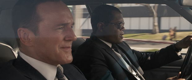 Captain Marvel Clark Gregg and Samuel L Jackson