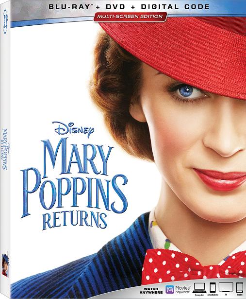 Blu-ray Packaging of Mary Poppins Returns