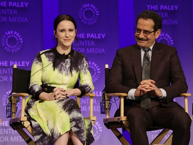 Marvelous Mrs. Maisel PaleyFest_Rachel Brosnahan and Tony Shalhoub