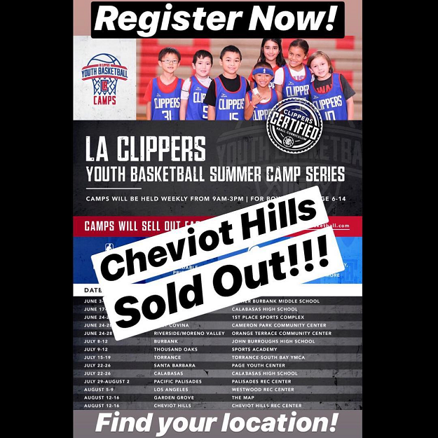 LA Clippers Youth B-ball Poster