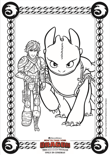 How to Train Your Dragon 3 coloring page
