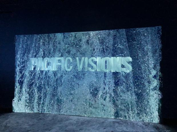 Pacific Visions Aquarium Pacific Virtual Waterfall