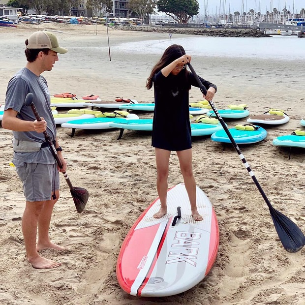 Pro SUP Shop beach lesson