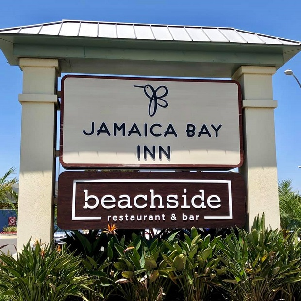 Jamaica Bay Inn signage