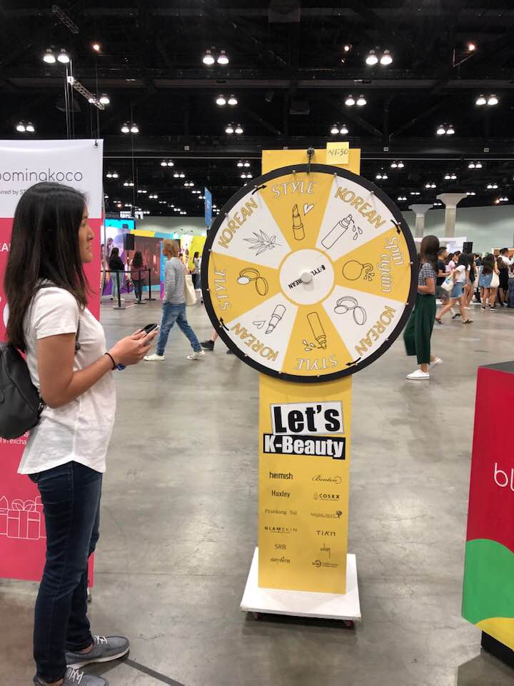 KCON LA 2019 - Spin the Wheel for K-Beauty