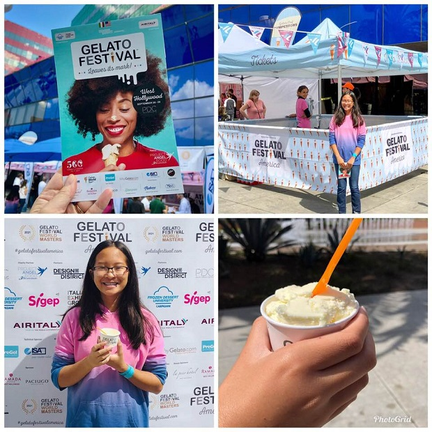 Gelato Festival program and samples