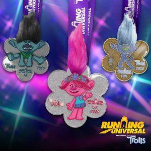 Running Universal - Trolls Race Medals
